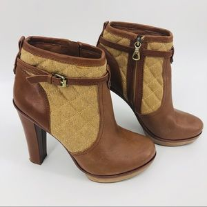 BCBGMAXAZRIA Kingston brown booties size 9